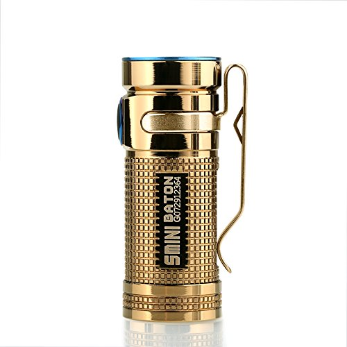 Olight® S mini Baton CU Taschenlampe Cree XM-L2 CW LED max. 550 Lumen mit 16340 CR123A 1600mAh Batterie - Rose Gold (Globale Limited Sonderedition)