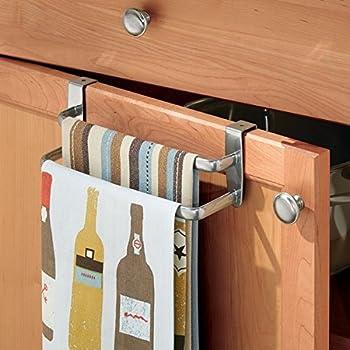 mdesign geschirrtuchhalter doppelte halterung zum einh ngen ber die k chenschrank t r der. Black Bedroom Furniture Sets. Home Design Ideas