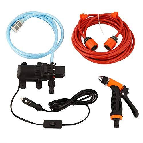Tragbare Hochdruck Auto Reinigung Kit 70 Watt 130PSI 12 V Langlebig Komplette DIY Auto Waschen Tools Set Wassereinsparung - orange & schwarz