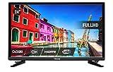 Nikkei NL2405FHD Fernseher 24 LED Full HD, Fernseher Bildschirm Plat 24 Zoll mit HDMI, 6W, DVB-T, Triple Tuner, CI Plus, Surround Sound, Ausgleich