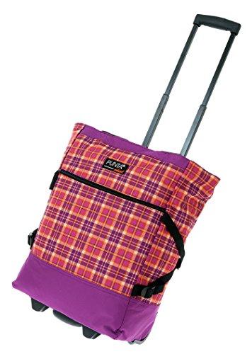 2er SET: PUNTA WHEEL Einkaufstrolley Einkaufsroller + Faltschopper [AUSWAHL] Red Pink Plaid 10008-3115