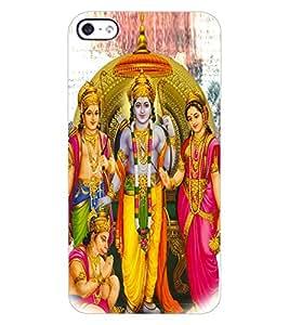 ColourCraft Lord Ram Laxaman Janaki and Hanuman Design Back Case Cover for APPLE IPHONE 4S