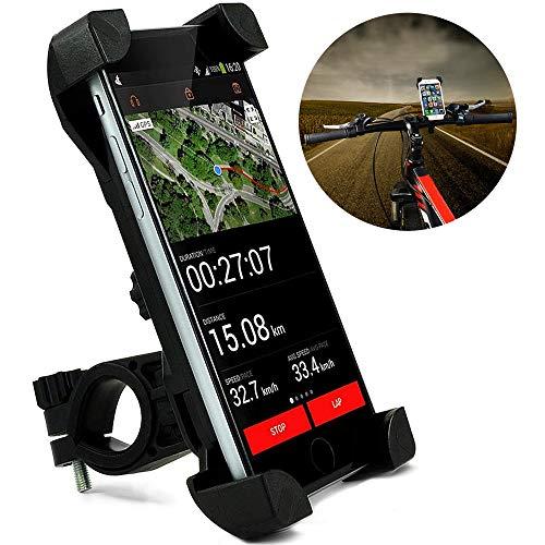 Handyhalterung Fahrrad, iPhone Fahrradhalterung 6 7 8 X XS XR Samsung S7 S8 S9, Smartphone Universal Handyhalter [3,5 - 6,5 Zoll] Fahrrad Zubehör, Halterung für Fahrradlenker