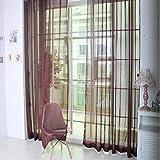 TAOtTAO 1 Stück Reine Farbe Tulle Tür Fenster Vorhang Drape Panel Sheer Schal Volants (G)