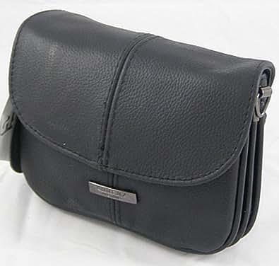 Small Leather Handbag / Shoulder / Overbody Bag (Black)