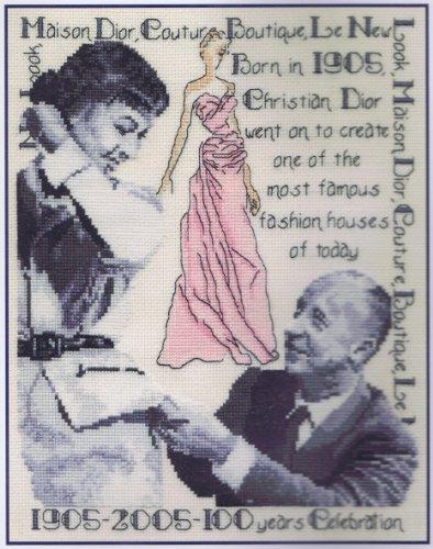 "100 Years Of Christian Dior Cross Stitch Kit - DMC - 8"" x 10"" (K5408)"
