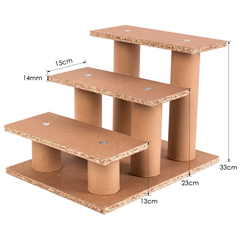 femor hundetreppe katzentreppe haustiertreppe treppe einstiegshilfe pl schbezug 45x35x30cm. Black Bedroom Furniture Sets. Home Design Ideas