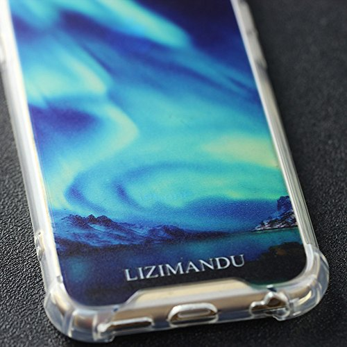 Lizimandu Telefon-Kasten für iphone 6/6s - TPU Case Schale Durchsichtig Transparent Etui Cover Protective Shell Telefon Kasten Soft Schutzhülle Muster(Hirsch Purpurrot/Deer Purple) Nächstes Licht/Nightern Light