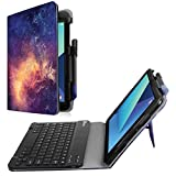 Finitie PU Leather Stand Cover with S Pen Protective Holder Detachable Wireless Keyboard for Samsung Galaxy Tab S3