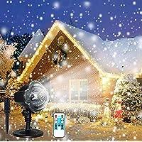 Christmas Projector Light,Snowfall LED Lights Christmas Decoration Projector Lights Outdoor Waterproof Remote Control Night Light Spotlight for Wedding, New Year,Holiday Halloween Xmas Party ¡