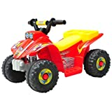 Homcom® Kinderauto Kinderwagen Elektroauto Kinderfahrzeug Kindermotorrad Quad Elektroquad Kinderquad Elektromotorrad (Elektroquad/rot-gelb)