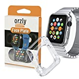 Orzly® Faceplate FlexiCase for Apple Watch (38 mm) - 100% Transparent Silicone Flexible Gel Protective Cover - Custom Packaged & Designed by Orzly®, Specifically for Use with Apple Watch (for 38 mm Version of All 2015 Models - Basic / Sport / Edition)