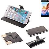 K-S-Trade Schutz Hülle für TP-LINK Neffos C7A Schutzhülle Flip Cover Handy Wallet Case Slim Handyhülle bookstyle schwarz