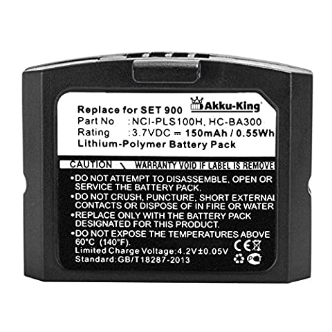 Akku-King Akku für Sennheiser RR 4200, Ri 410, Set 840 - ersetzt BA 300, 500898, HC-BA300, NCI-PLS100H - Li-Polymer (Sennheiser Ri 410)