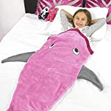 Kunmuzi Chaud et Doux Shark Couverture pour 3–12Ans Enfants, 142x 50cm, Snuggle-in Sac de Couchage à Salon Canapé et Lit pour la Nuit en Parfaite, Noël et Cadeaux de Noël pour Les Enfants
