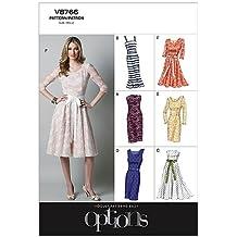 Vogue Patterns V8766 - Patrones de costura para vestidos de mujer (talla AA: 36