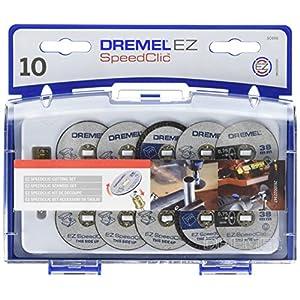 Dremel SpeedClic Schneid-Set (1x SC-Aufspanndorn, 6x Metall- Trennscheiben, 2x dünne Präzisionstrennscheiben, 2x Kunstoff-Trennscheiben, Aufbewahrungsbox)