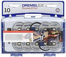 Assortiment comprenant 10 disques à tronçonner EZ SpeedClic et le mandrin spécial EZ SpeedClic. En plus des 6 disques à tronçonner le métal, de 38 mm, le kit comprend 2 disques à tronçonner spéciaux fins et 2 disques à tronçonner spécifiques pour le ...