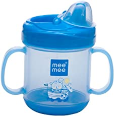 Mee Mee No Spill Sipper Cup with Double Handle (Blue)
