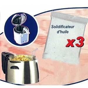 Solidificateur d'huile friteuse (3 sachets)