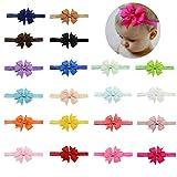 Baby Girls Headbands Elastic Bowknot Banda para el cabello suave para niños niño infantil 20pcs