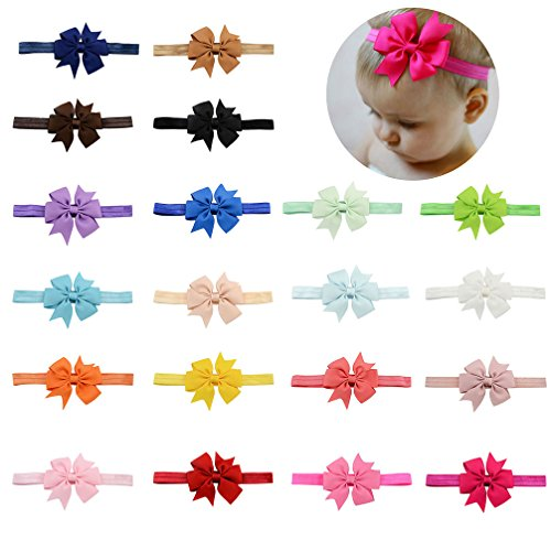 Baby Girls Headbands Elastic Bowknot Banda cabello