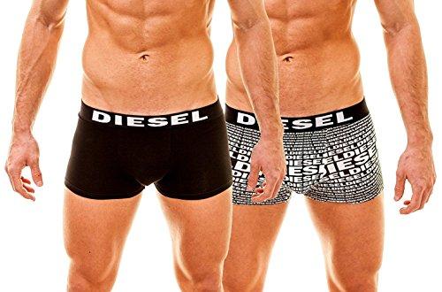Damien 2 Pack Boxer DIESEL BRANDING, Black, Large