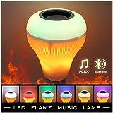 Ralbay E27 LED Glühbirne mit Bluetooth Lautsprecher Smart Birne, E27 RGBW Farbwechsel Lampe mit musik iOS und Android App für Zuhause, Bühne, Bar, Party Dekoration