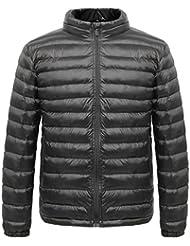 Madhero, piumino termico da uomo per escursioni, campeggio invernale e attività all'aperto, leggero Black Large (FBA)