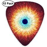 Chitarra in muratura Eyes Picks 12 pacchi per basso, chitarra elettrica e acustica sottile, media, pesante 0,46/0,71/0,96 mm