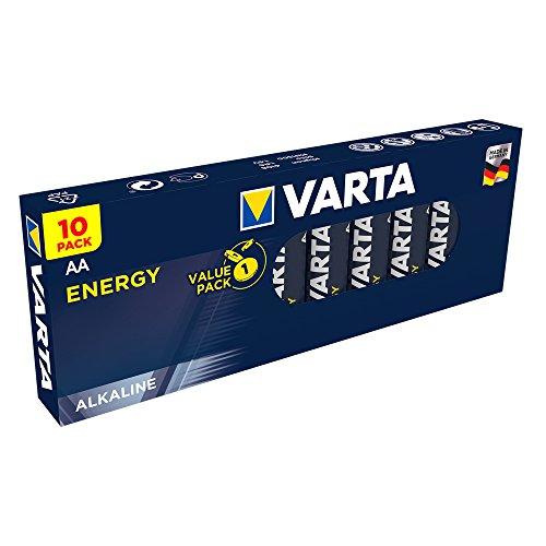 Varta Batterien Energy AA Mignon Alkaline Batterie, 10er Pack