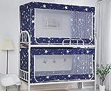 FEFEFEF Moskitonetz Etagenbett weiblichen Schlafsaal Doppel hoch und niedrig Jalousien Vorhang Bett Kinderbett Moskitonetz,4,0.9 * 1.9 * 1.1m2