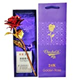 #6: Chocholik 24K Red Gold Rose 10 INCHES With Gift Box - Best Gift For Loves Ones, Valentine's Day, Mother's Day, Anniversary, Birthday
