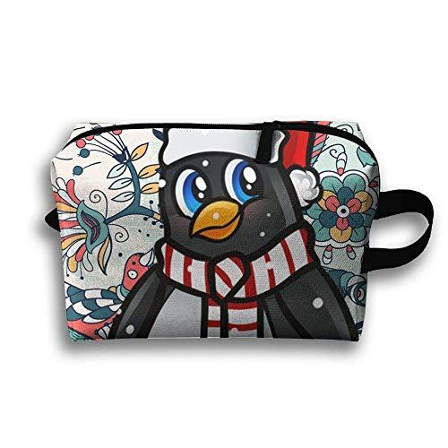 (Unisex Tourist Bag Schöne Pinguin Weihnachten Multifunktions Reise Make-Up Tasche Mit Reißverschluss Kosmetiktasche Taschen)