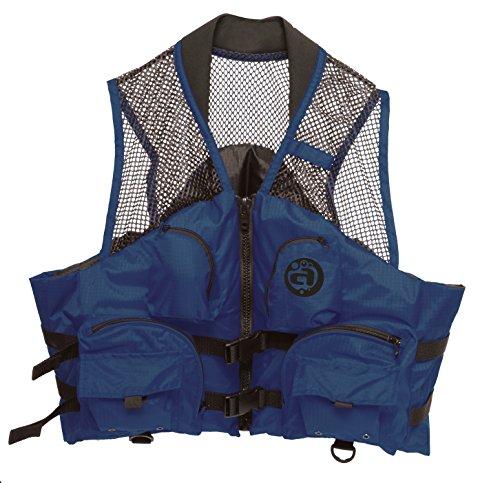 Airhead , aufblasbar Angeln Deluxe, Fishing Deluxe Adult Closed Side Vest, Navy -