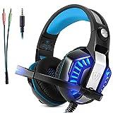 Gaming Headset Mikrofon Micolindun Over-Ear Kopfhörer Gamer für PS4