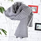#8: Hannea Elegant Women's Solid Color Knitted Scarf