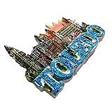 La Catedral Toledo España Europa resina 3d fuerte imán para nevera recuerdo turista regalo chino imán hecho a mano creativo hogar y cocina decoración magnética