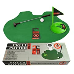 Idea Regalo - BBTradesales - Tappetino Mini-Golf per WC Potty Putter