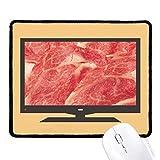 beatChong Lamm Rolls rohes Fleisch Essen Textur Computer-Maus-Pad Anti-Rutsch-Gummi Mousepad Spiel Büro