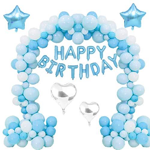 Tumao Geburtstag Dekoration Set, 107 Stück Geburtstag Buchstaben Luftballons Set, Happy Birthday Party Ballons Helium Luftballons für Mädchen und Jungen Jeden Alters,Geburtstag,Karneval,Baby-Partys.