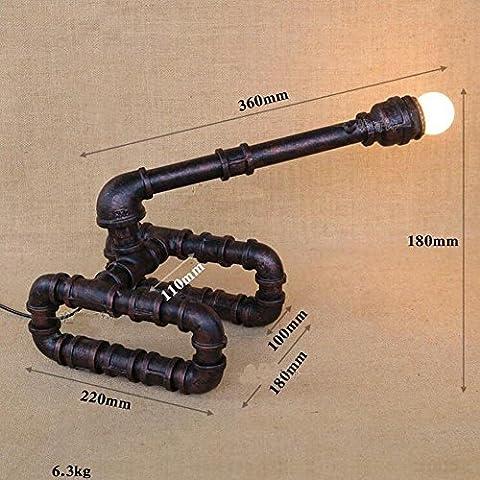 Carro de ferrocarril interior Vintage Industrial Metal tubo grifo tubo lámpara