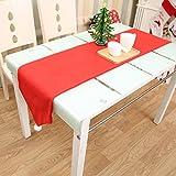 Calistouk tovaglia natalizia decorazioni per la tavola rosso Natale bandiera da tavolo panno asciugamano Covers