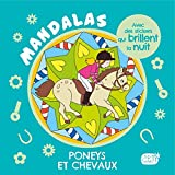 Carnet mandalas - Poneys et chevaux (avec des stickers phosphorescents)