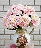 A Trust Artificial Silk Fake 5 Heads Flower Bunch Bouquet Home Hotel Wedding Party Garden Floral Decor Hydrangea 10 Colors Avaliable