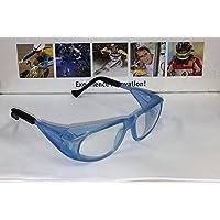 Uvex occhiali Occhiali protettivi da lavoro/Ironing 9134Meteor, azzurro, colore lenti: incolore, protezione: 2–1,2
