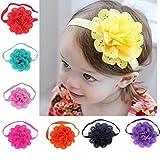 Ropa Y Accesorios Best Deals - Tongshi 8pcs Niñas bebés vendas de la flor Fotografía Atrezzo Diadema Accesorios