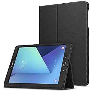 MoKo Galaxy Tab S3 9.7 Case - Slim Folding Cover Case for Samsung Galaxy Tab S3 9.7 inch Android 7.0 2017 Version Tablet (SM-T820 / T825), BLACK (With Auto Wake/Sleep and Stylus Pen Loop)