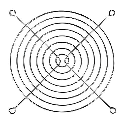 üfterabdeckung aus Stahl für 140 mm Lüfter I Lüftergitter Luftstrom-Durchlässig I Erhältlich in unterschiedlichen Größen ()