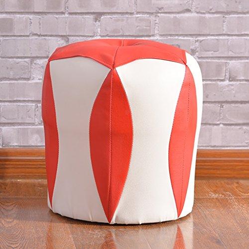 Unbekannt Hocker- Kleiner Schemel-Schemel-Schemel-Stilvolle Einfachheit kreatives Haus verdicken den Verband, der Seine Schuhe ändert Ledersofa-Schemel-Holz-Bank (Farbe : D)